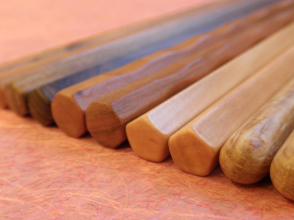 由布院の思い出とともに、手づくりのお箸を
